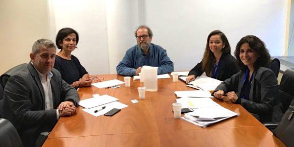 Javier Antón Cacho y Dolores Galovart junto a Chesús Yuste, Conny Duarte y Anna Mulà