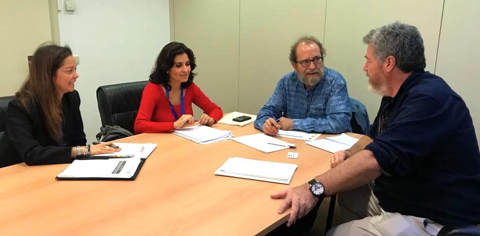Juantxo López Uralde de Unidos Podemos junto a Chesús Yuste, Anna Mulà y Conny Duarte
