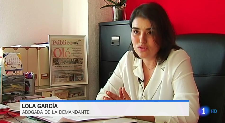 La abogada Lola García