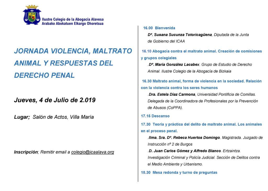 Programa evento Vitoria 4 de julio 2019