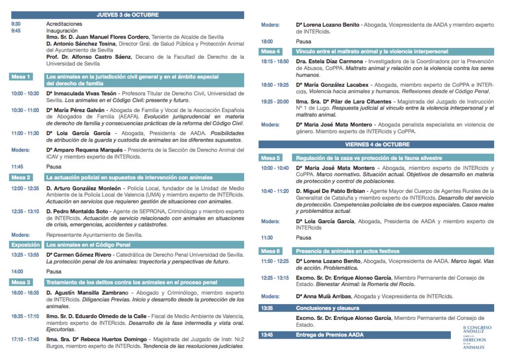 Programa Congreso Sevilla