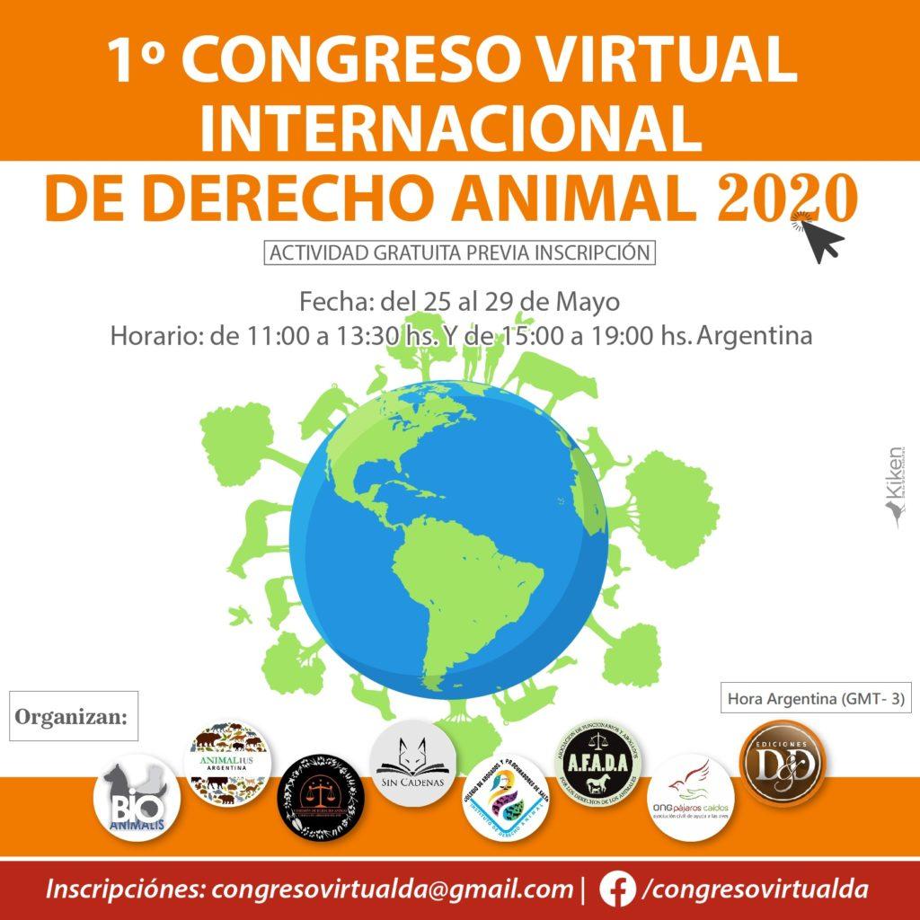 Cartel Congreso Virtual Derecho Animal