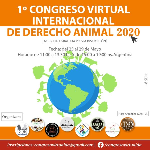 Cartel Congreso Virtual Derecho Animal